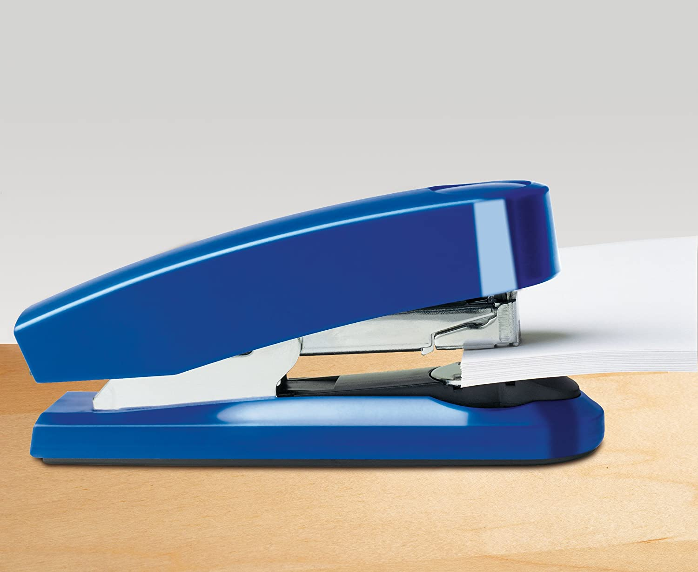 Steel Drive 020-1468 25 Yr German Engineered 50 Sheet Capacity Novus B4fc Compact Flat Clinch Stapler Blue Staple Pin Tack Warranty