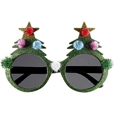 Forum Novelties Novelty Holiday Glasses, Christmas Tree, One Size: Clothing