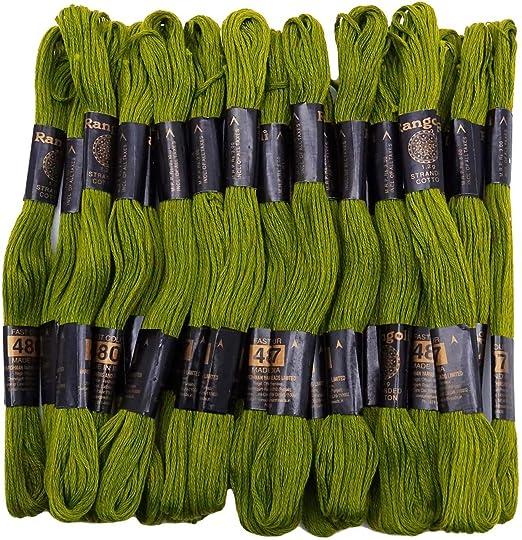 IBA Indianbeautifulart 25 Piezas de algodón Bordado de Hilo de ...