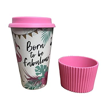 De Bambou ♻ Tasse Reutilisable Fibre Gobelet En À Café uZPOkXi