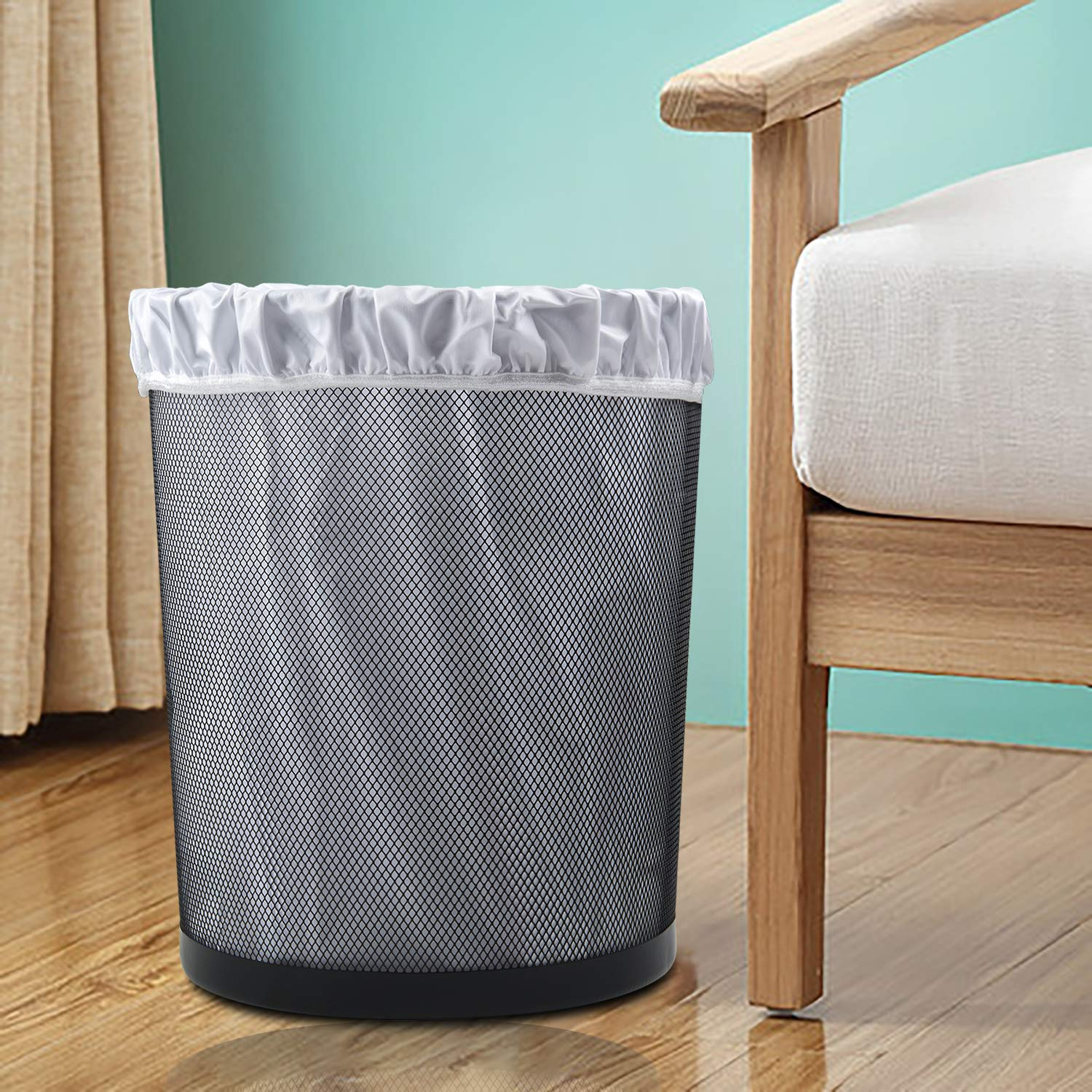LLS-B2629-US ALVABABY Reusable Diaper Pail Liner for Cloth Diaper,Laundry,Kitchen Garbage Cans Black Grey, Small Size:5 Gallon