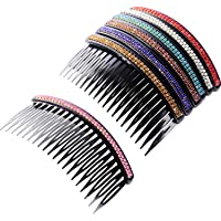 7 Pieces Hair Comb 20 Teeth Rhinestone Comb Pin Clip Bridal Hair Combs Accessory for Women Girls Assorted Colors