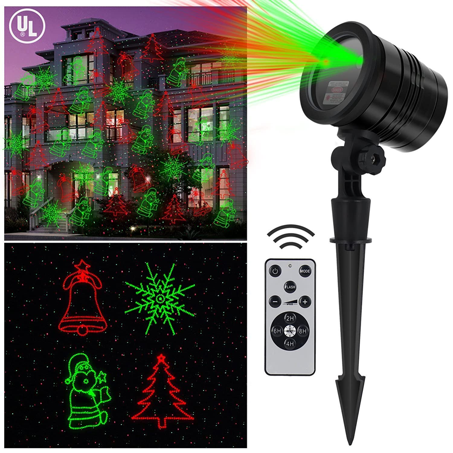 Amazon Lightess Christmas Laser Lights Projector Indoor