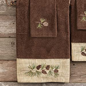 Black Forest Decor Pine Haven Cabin Bath Towel