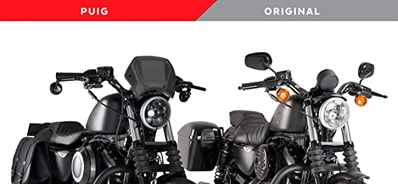 Carbonio Puig Piastra Anteriore 1351C per Harley Davidson Sportster 883 Iron 09-19