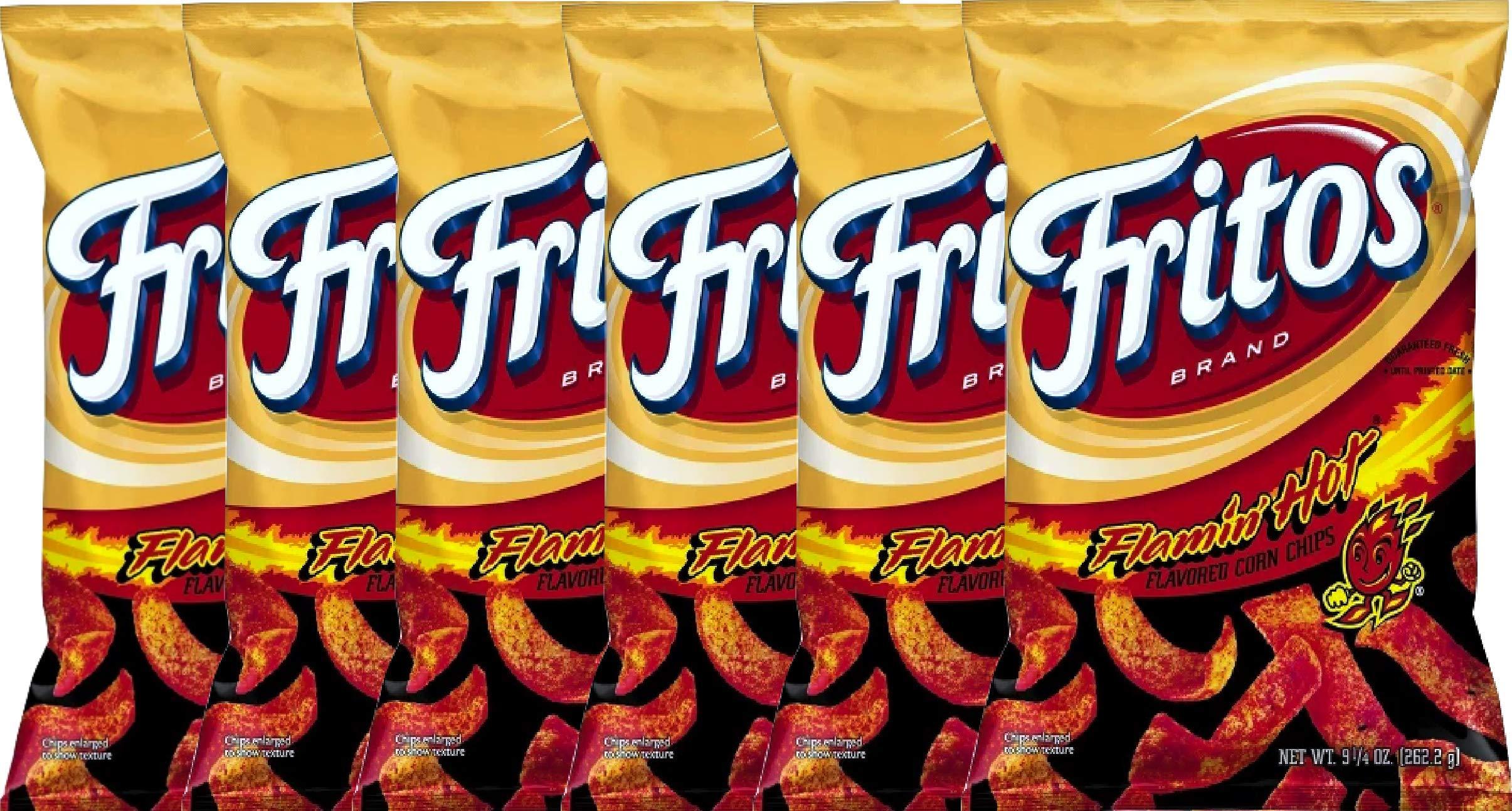 NEW Fritos Flamin Hot Flavored Corn Chips - 9.25oz (6)