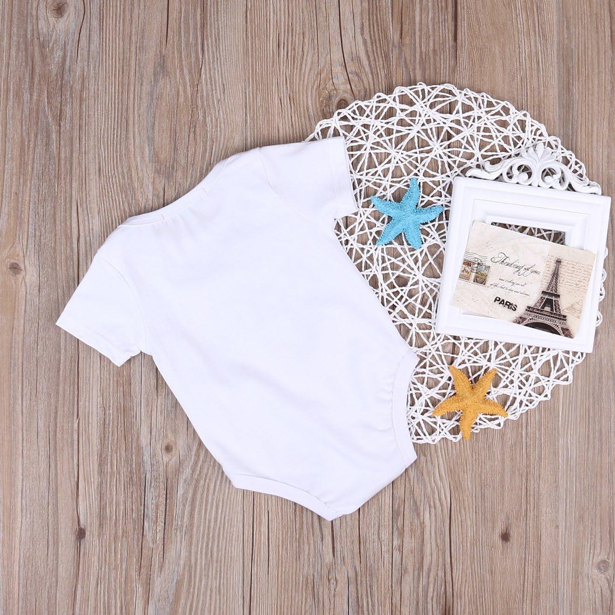 Neugeborenes Baby M/ädchen Strampler Tops Hemd Big Sister /& Little Brother Outfits Set Kleidung