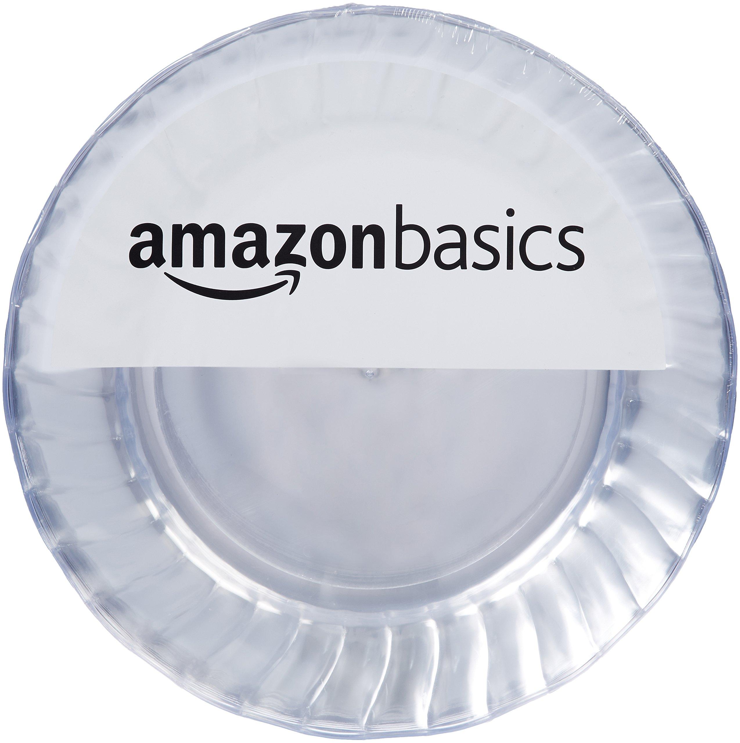 AmazonBasics Disposable Plastic Plates - 100-Pack, 7.5-inch by AmazonBasics (Image #1)