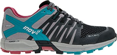 Inov8 Roclite 305 Womens Grey Blue Gore Tex Running Sports Shoes Trainers