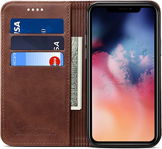 iPhone 11 Flip Case Cover for Leather Wallet Cover Extra-Durable Business Kickstand Card Holders Flip Cover