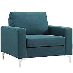 Modway EEI-2776-BLU Allure Upholsterted, Blue, Armchair