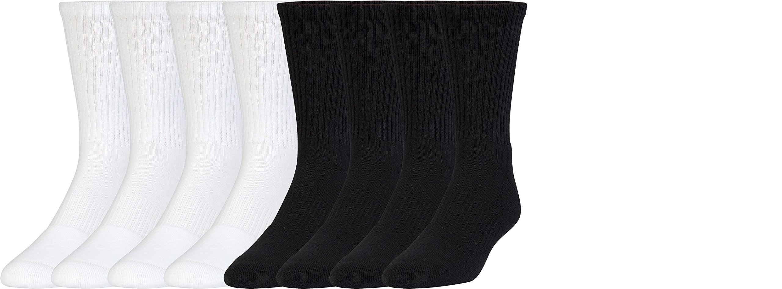 Under Armour Boys Charged Cotton 2.0 Crew Socks (8 Pack), Large, Assorted by Under Armour