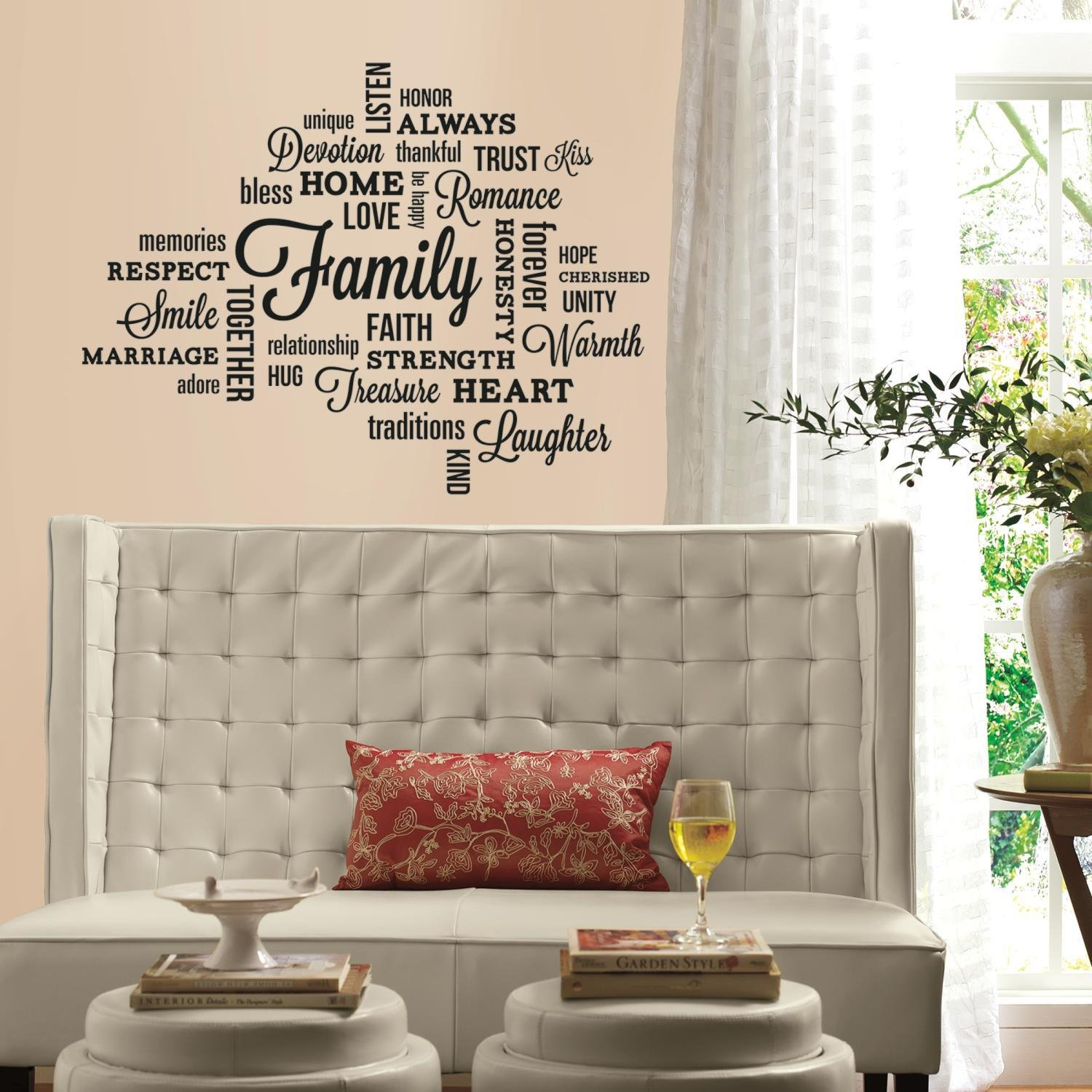 RoomMates RMK2741SCS Family Quote Peel And Stick Wall Decals     Amazon.com