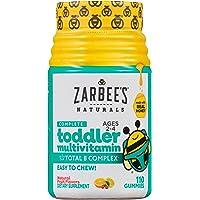 Zarbee's Naturals Complete Toddler Multivitamin, Natural Fruit Flavors, 110 Gummies