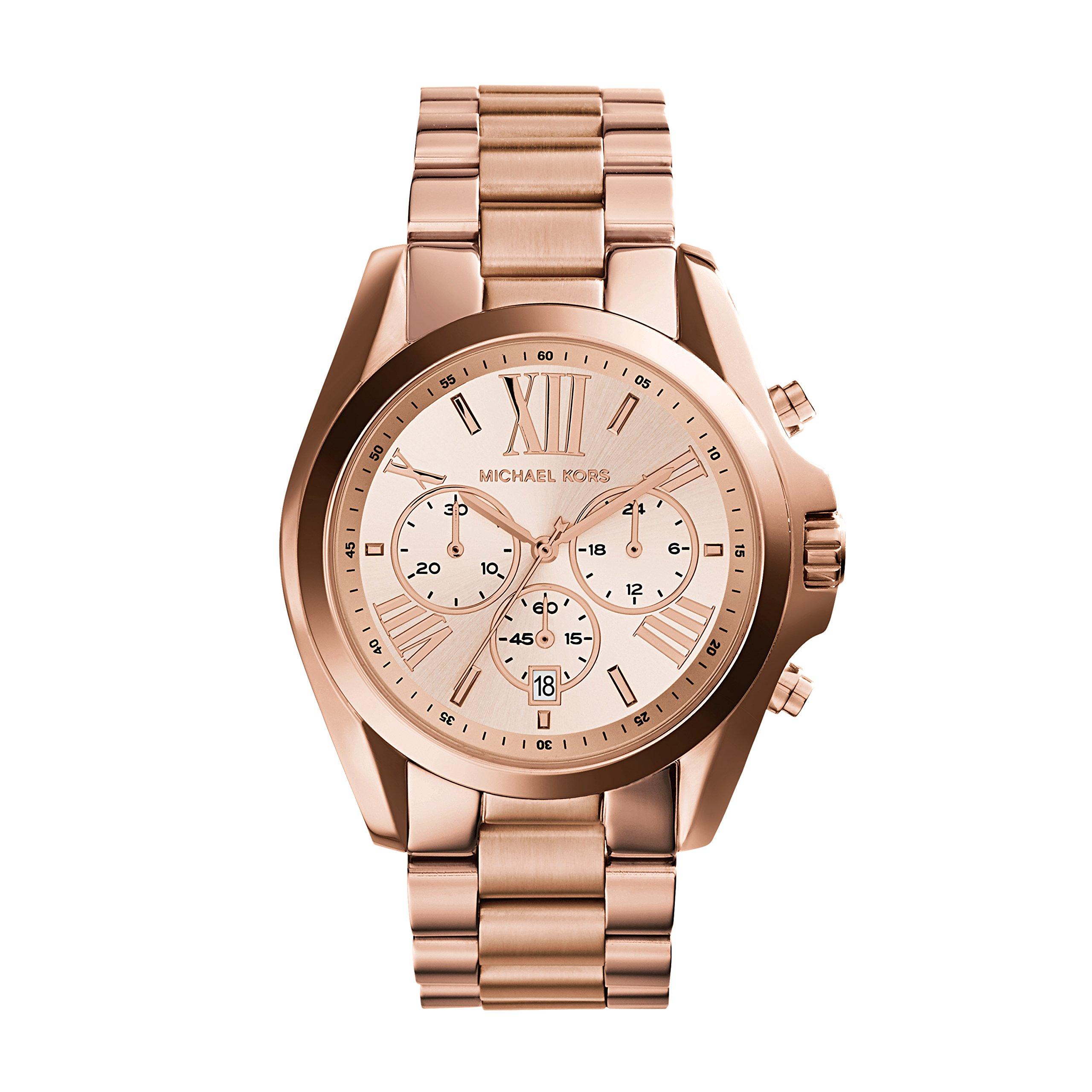 Michael Kors Roman Numeral Watch MK5503 Rose Gold by Michael Kors