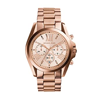 9f7845721e837 Amazon.com  Michael Kors Roman Numeral Watch MK5503 Rose Gold ...