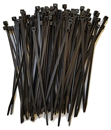 Black Zip Ties >> Cable Ties Standard Duty 7 6 Inch Premium Nylon Wire Management Zip Ties 50 Lb Tensile Strength Usa Strong Cable Ties 100 Pack Uv Black
