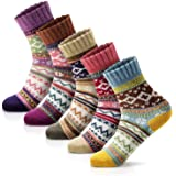Women Winter Socks Women Socks Warm Thick Soft Wool Socks Christmas Gift Socks for Women Cozy Crew Socks-5packs