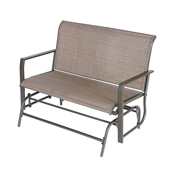 Wilcum Patio Loveseat Patio Glider Outdoor Loveseat Furniture Outdoor Glider Bench Modern Indoor Outdoor Furniture Patio Furniture Sets Chair Tan