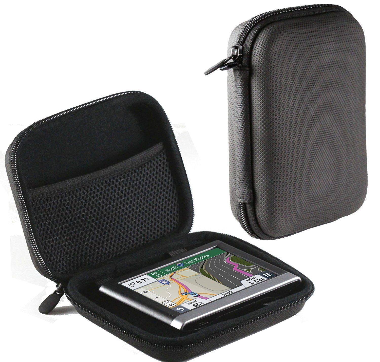 Navitech Purple Hard Eva Nylon Protective Tough Carry Case for The Garmin Nuvi 40 40LM 40WE