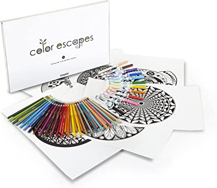 - Amazon.com: Crayola Color Escapes Coloring Pages & Pencil Kit,  Kaleidoscopes Edition, 12 Premium Pages, 12 Fine Line Markers, 50 Colored  Pencils, Adult Coloring, Art Activity Set: Toys & Games
