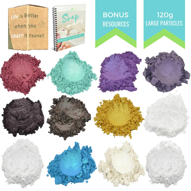 Large Particles - Angelic Seduction Metallic Mica Powder - 120 Gram - Bath Bomb Colorant - Resin - Slime - Epoxy Color Pigment - Bonus how to look PRETTY 4336900800