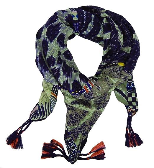 4d573a3a50ee Ella Jonte Foulard Écharpe triangle pour femme élégant et tendance de la  dernière collection animal print