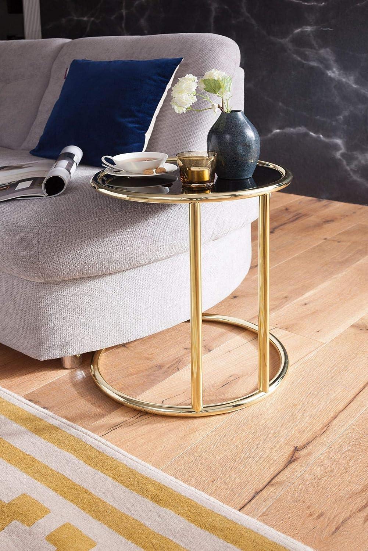 Finebuy Design Beistelltisch Leonie O 45 Cm Couchtisch Rund Schwarz