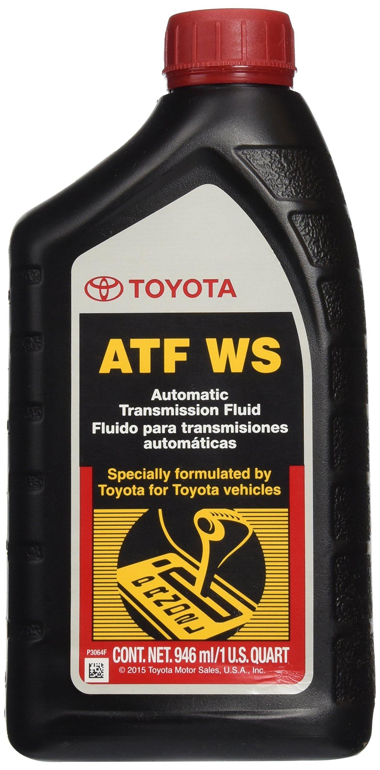 Genuine Toyota Lexus Automatic Transmission Fluid 1QT WS ATF World Standard (4 Pack)