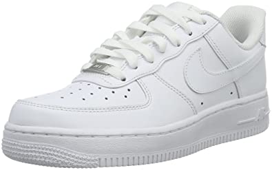 super popular 3b0cb 962cc Nike Air Force 1 ´07, Womens Low-Top Sneakers, Weiß (White