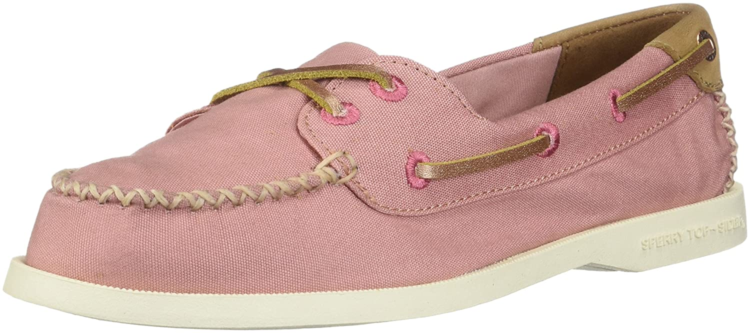 pink Sperry Women's A O Venice Canvas Flip Flops