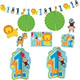 Amscan Kit décoration anniversaire 1 an garçon jungle