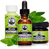 Uncle Harry's Natural Remineralization Kit with Tooth Whitening - 3 Products Strengthen Weak Enamel, Brighten Smile, & Correc