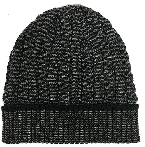 BAOHWA - Gorro de punto - para mujer gris Grey/Black Talla única