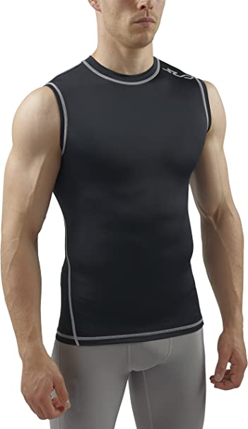 Men Athletic Apparel Compression Sports Tank Vest Shirts Base Layer Gym Tee Tops