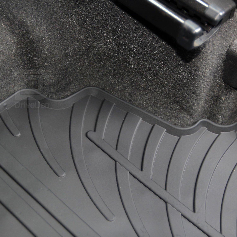 Gledring GLED-0042#1 Custom Tailored Fit Black All Weather Rubber Car Floor Mats