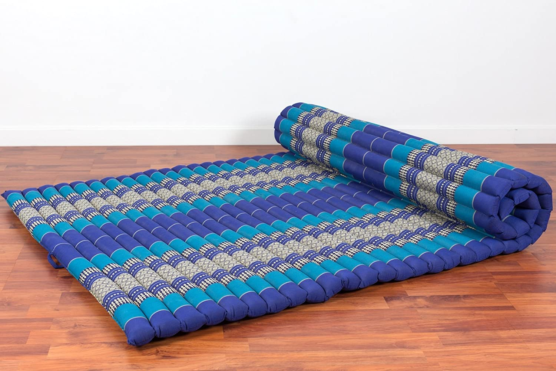 Leewadee Tatami Tai Enrollable XL, 200x105x5 cm, Capok, Azul