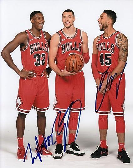 38ea7a868 ZACH LAVINE - DENZEL VALENTINE - KRIS DUNN signed (CHICAGO BULLS ...