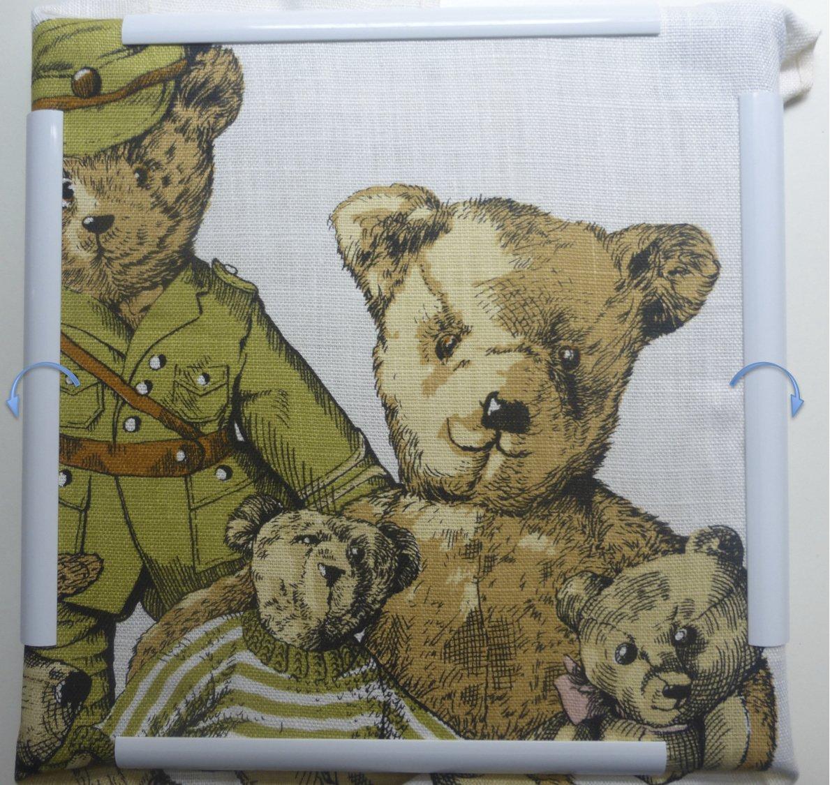 20 x 20 cm marco para el bordado, acolchar, patchwork, punto de cruz ...