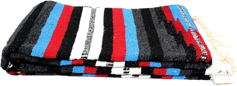 Open Road Goods Aztec Mexican Blanket, Native Navajo Diamond Style Throw or Yoga Blanket - Handmade Blanket