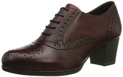 0d125fb2b85669 Tamaris 23305, Chaussures de Ville Femme - Rouge (Bordeaux 549), 40 ...