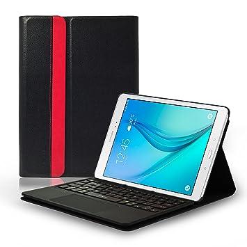 LEICKE Sharon – Funda con Teclado Separable y Multi Touch de Touchpad Integrado, disposición QWERTY inglés para Samsung Galaxy Tab a 24,6 cm (9,7 ...