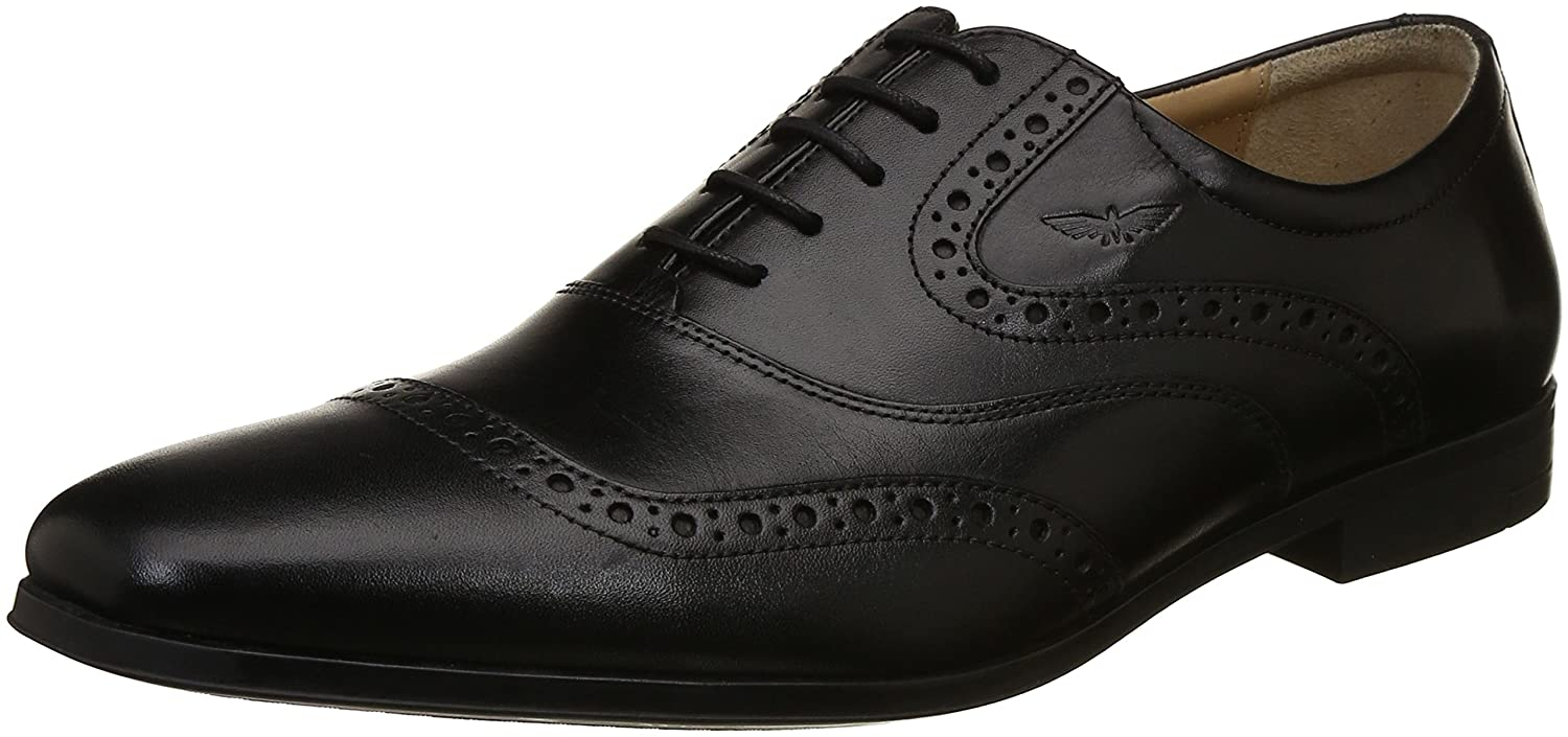 Park Avenue Mens Black Leather Formal Shoes 6 UK India 40 EU PXSS00005 K6 Buy Online At Low Prices In