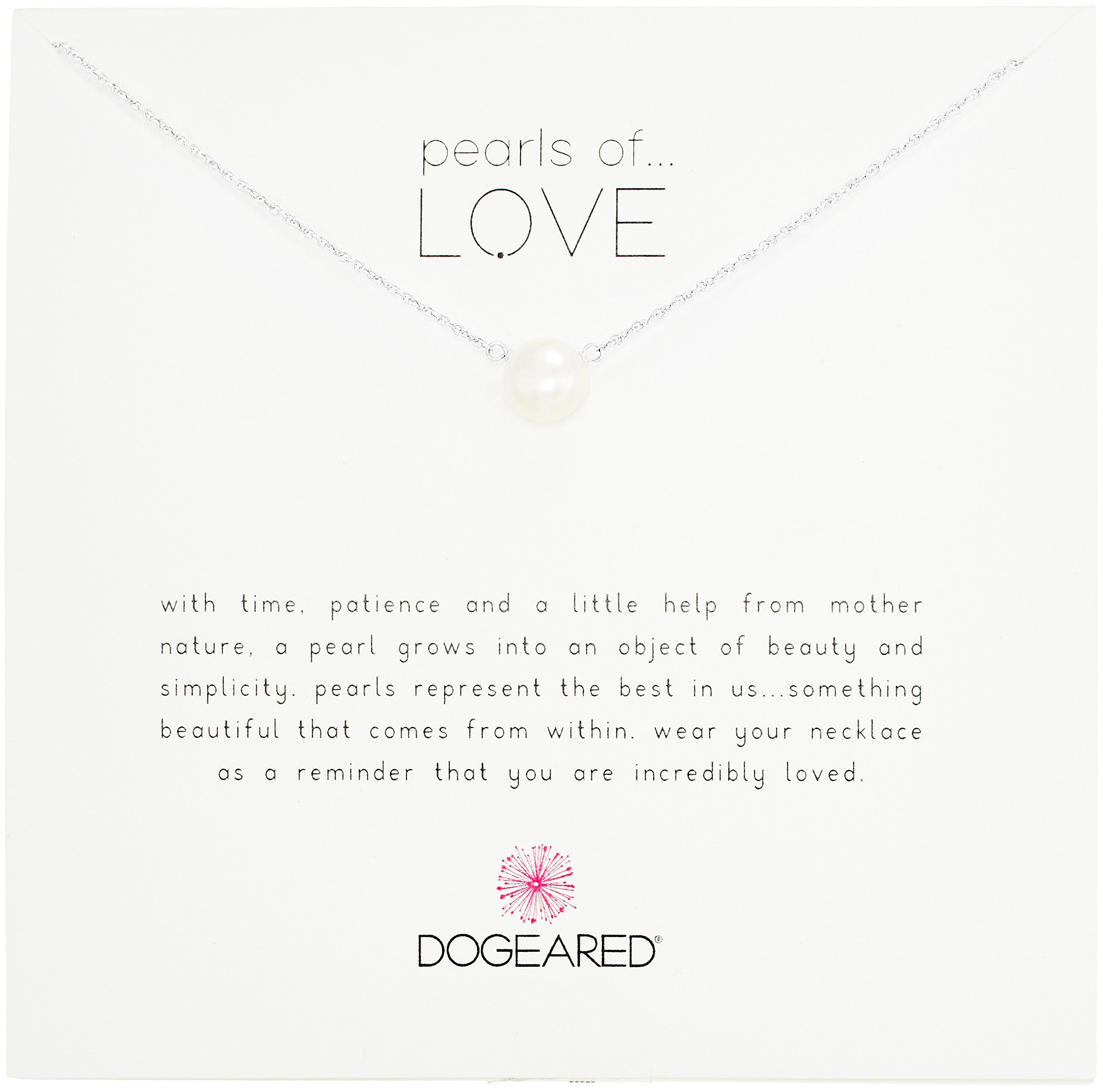 Dogeared Pearls of Love Sterling Silver and Pearl Necklace, 18'' by Dogeared (Image #1)