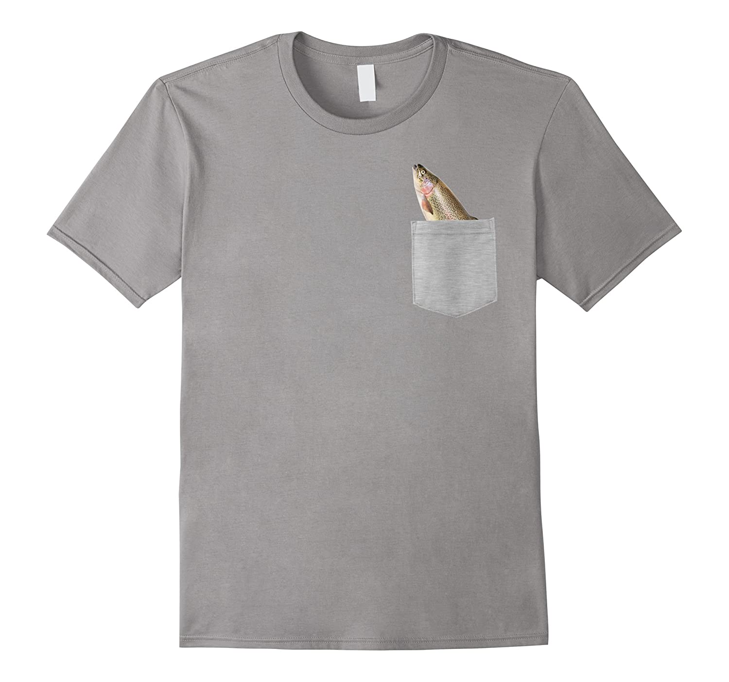 Animal in Your Pocket Funny Rainbow trout peeking out t shir-Art