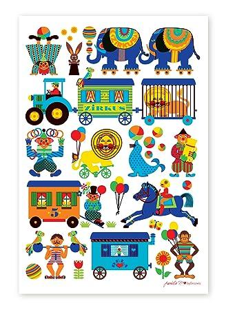 ByGraziela Kinderzimmer Poster: Zirkus 50 X 70 Cm Retro