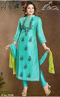 aa744ad915aab Sudarshan Silks GADA Readymade Salwar SUIT-Blue-GDC7278-MM-Chiffon