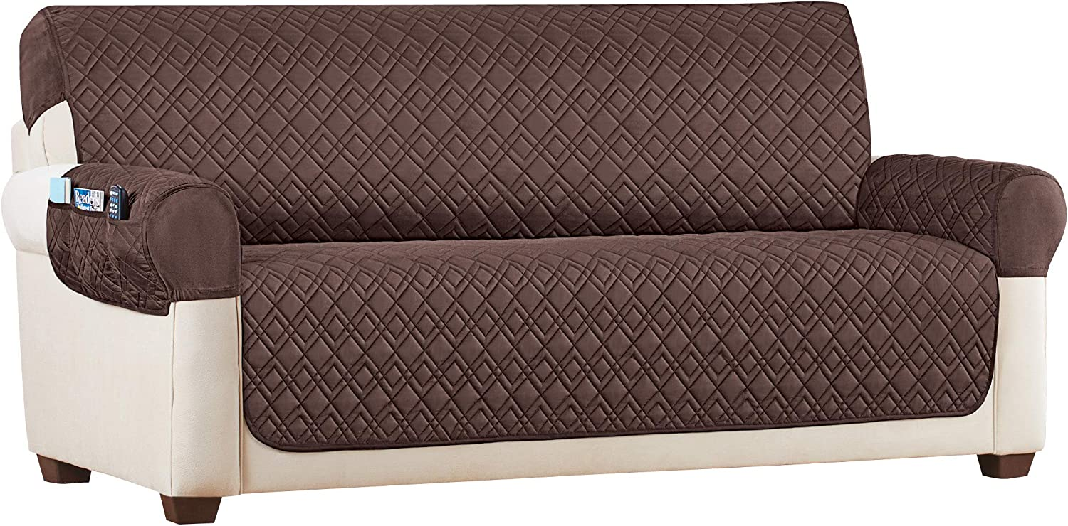 Diamond Texture Stretch Storage Furniture Protector Covers - Protects from Spills, Stains, Shedding Pets Hairs - for Chairs, Loveseats, Sofas