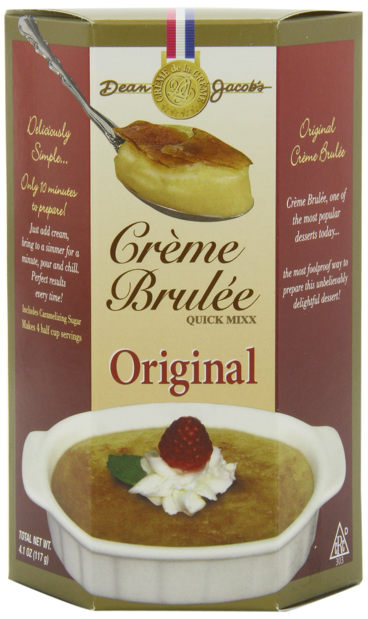 Amazon.com : Dean Jacobs Creme Brulee Quick Mix, 4.1-Ounce (Pack of ...