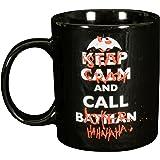 Batman 0122041 - Tasse Keep Calm and Call Stay Crazy and Call Joker, Porzellan, Keramik, Schwarz, Circa 300 ml, 12 x 7,5 x 9,30 cm